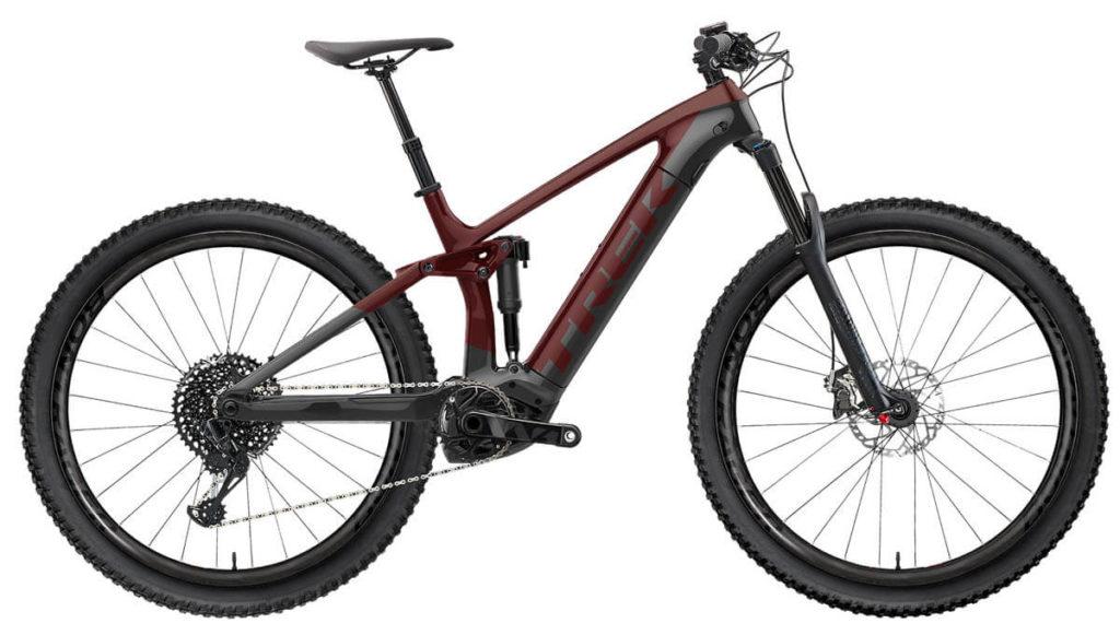 E-Bike Trek Rail 9.8 xt carbon red smoke lithium grey