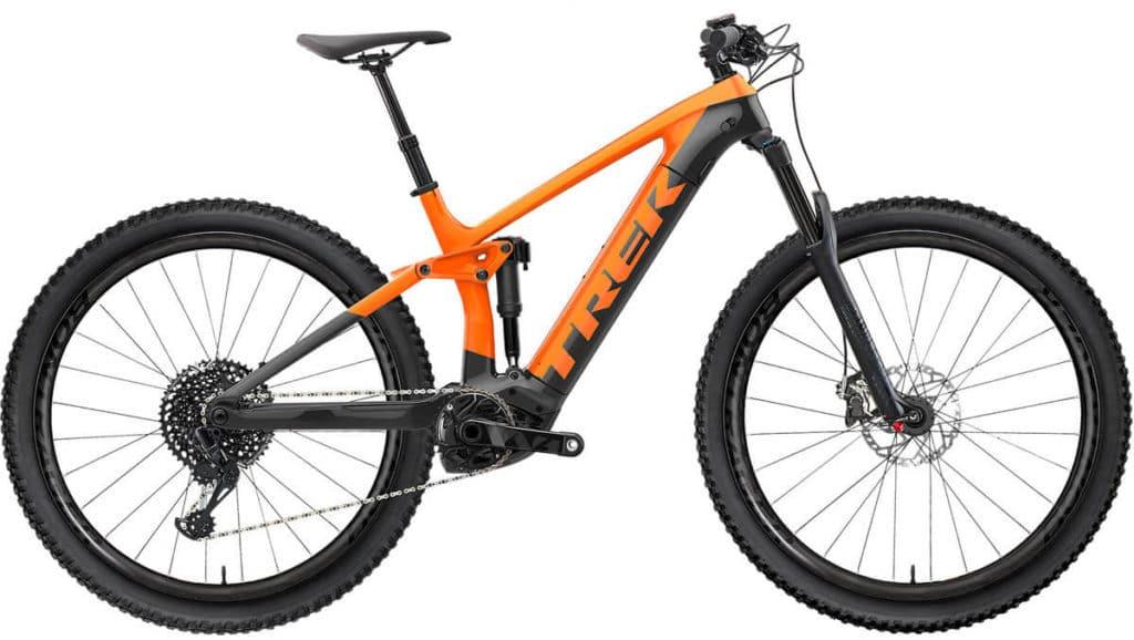 E-Bike Trek Rail 9 factory orange lithium grey