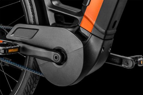 Kombinierter Motor- und Kettenschutz am Bergamont E-Ville Pro Belt Premium 2021