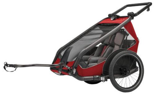 Flyer E-Bike 2021 Kinderanhänger rot