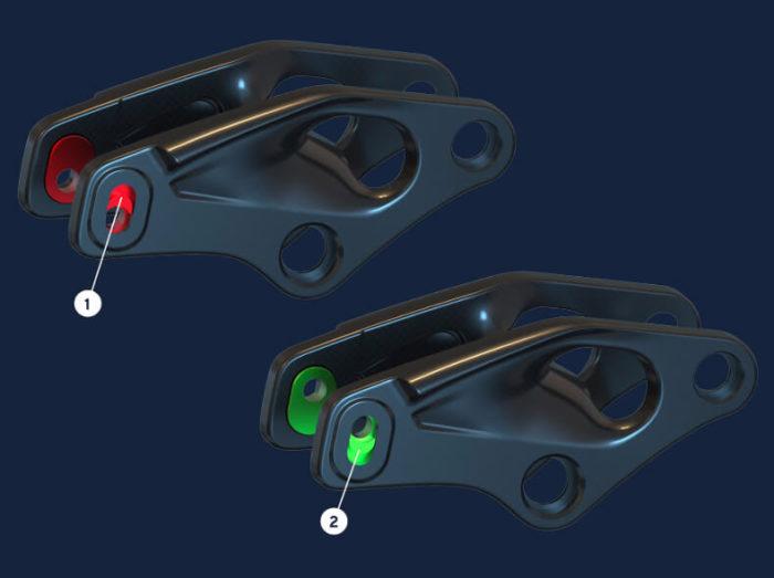Flip-Chip-Option am Dämpfer bei E-Bikes von Giant