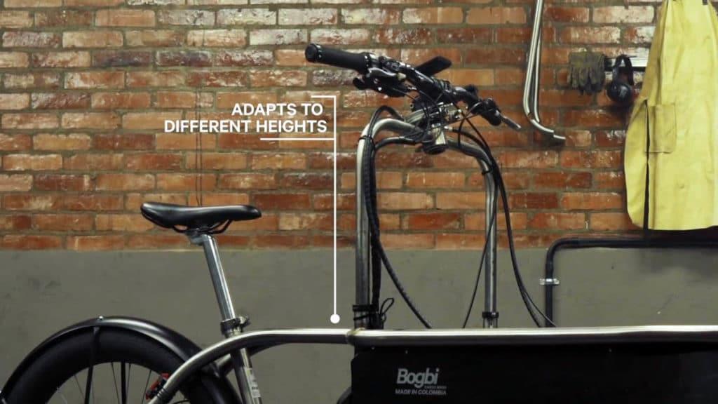 Handlebar bridge on the e-cargo bike Bogbi extended