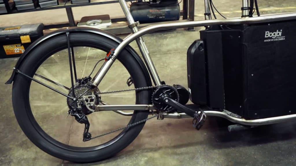 Motor and battery from Bafang on e-bike Bogbi