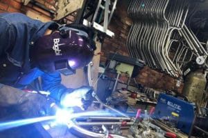 Welding during the production of the Bogbi