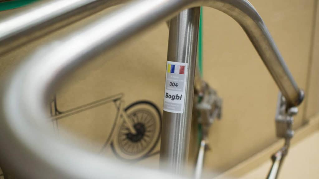Frame of the Bogbi in 304 stainless steel