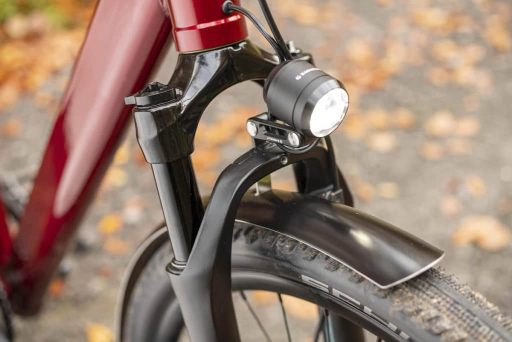 Front headlight on the e-bike Iseo from Coboc