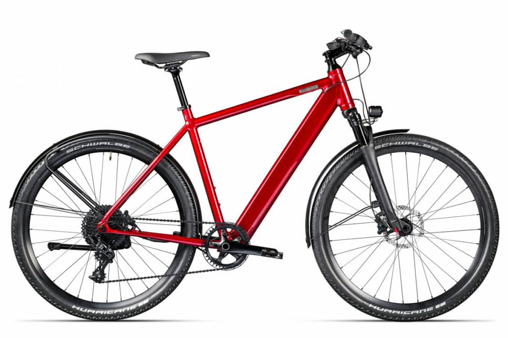 E-bike Iseo from Coboc in the colour Rooftop Red