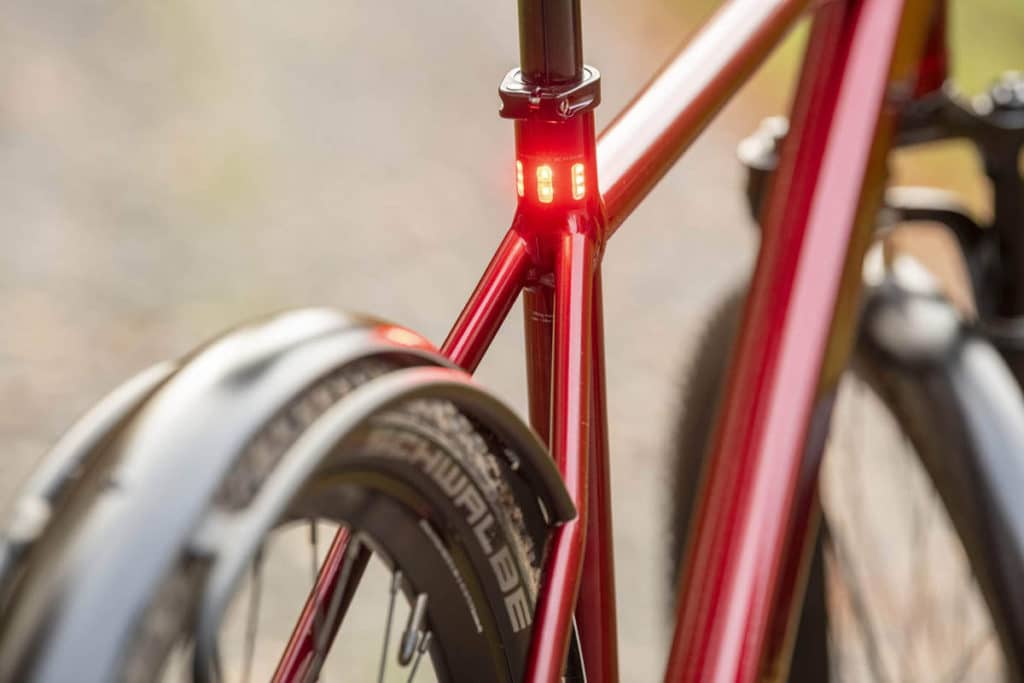 Tail light integrated into the seat tube on the e-bike Iseo from Coboc