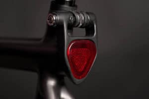 Seat clamp on E-bike Equal with tail light and safety lock for integrated battery