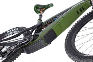 Motor cover on the Pivot e-bike Shuttle for the 2021 season