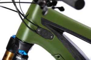 Rubber protects the electric drive power button on the Pivot Shuttle