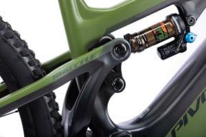 Fox shock on the Pivot e-bike Shuttle for the 2021 season
