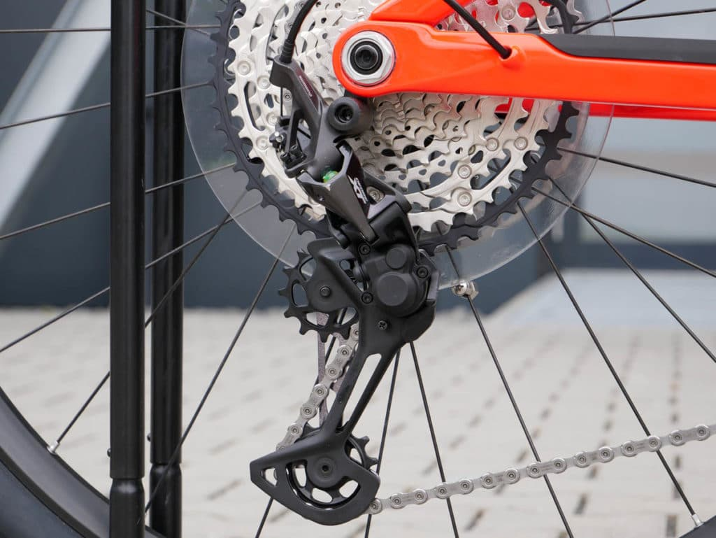 Shimano rear derailleur on the iLynx Race Carbon from BH Bikes