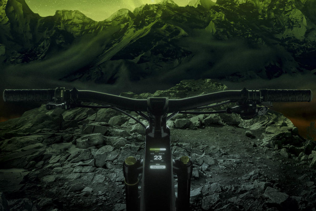 Display Smart Dashboard on Siryon Forestal permanently integrated in the top tube