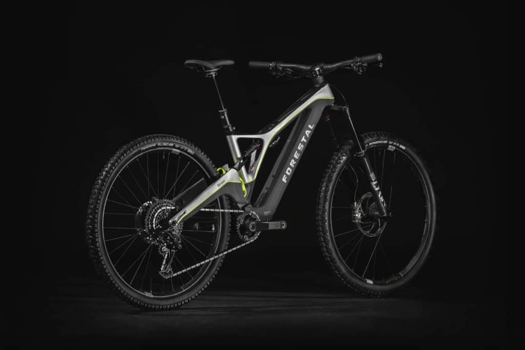 E-bike Forestal Siryon side view from behind
