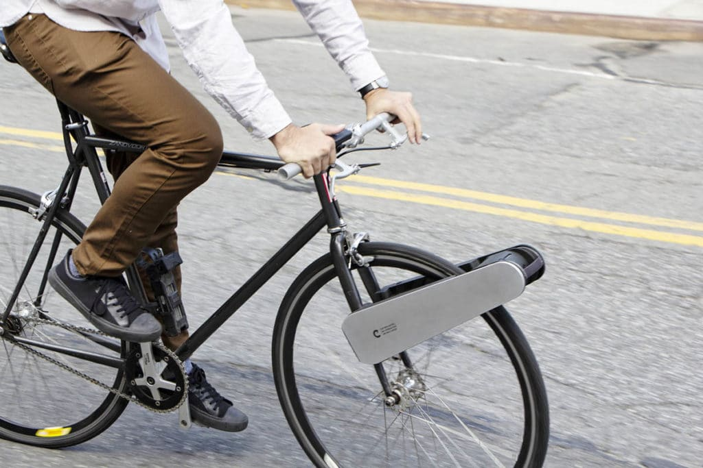 Retrofit kit Clip for e-bikes mounted on the bike