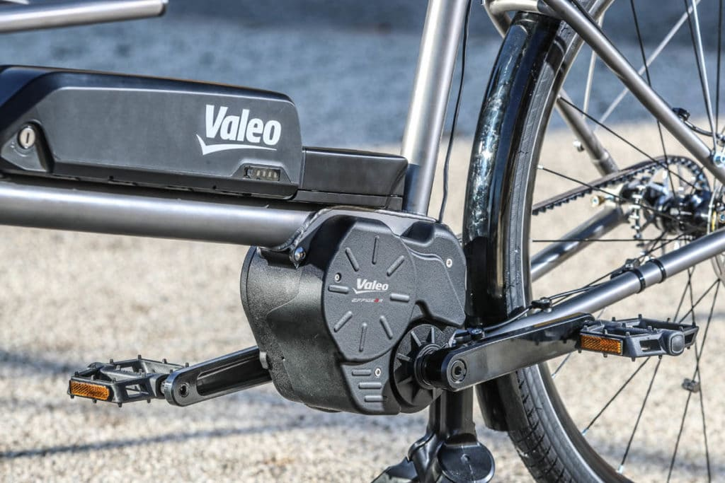 Motor on an e-cargo bike with the Valeo Smart drive system