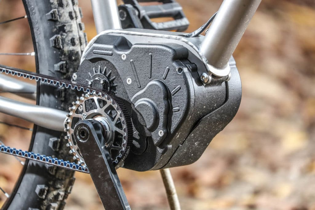 Motor on an E-MTB with the Valeo Smart drive system