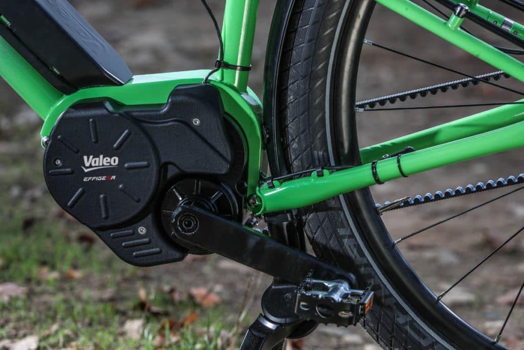 Motor on an e-trekking e-bike with the Valeo Smart drive system