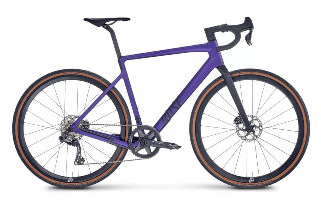 Gravel bike Rose Backroad in the colour Deepest Purple with Classified Powershift hub
