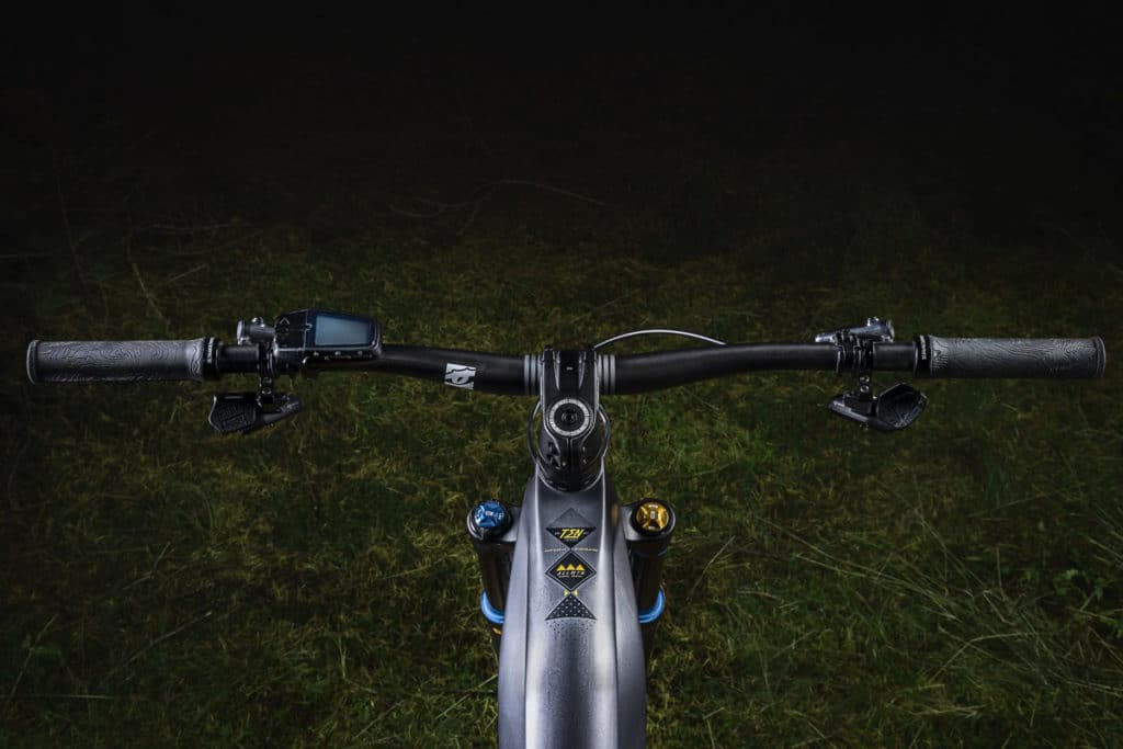 E-bike Allmtn SE from Haibike with a clean-looking cockpit