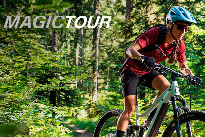Magic Tour support level for Moustache e-mountain bikes
