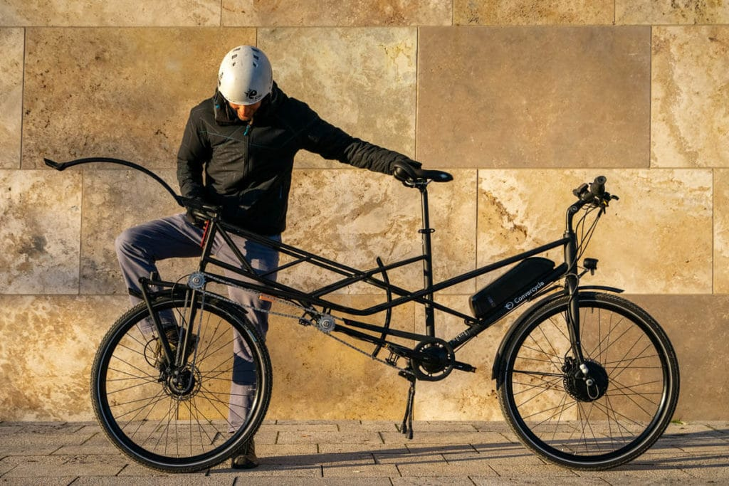 Convercycle Electric ebike can be transformed into a cargo bike in seconds