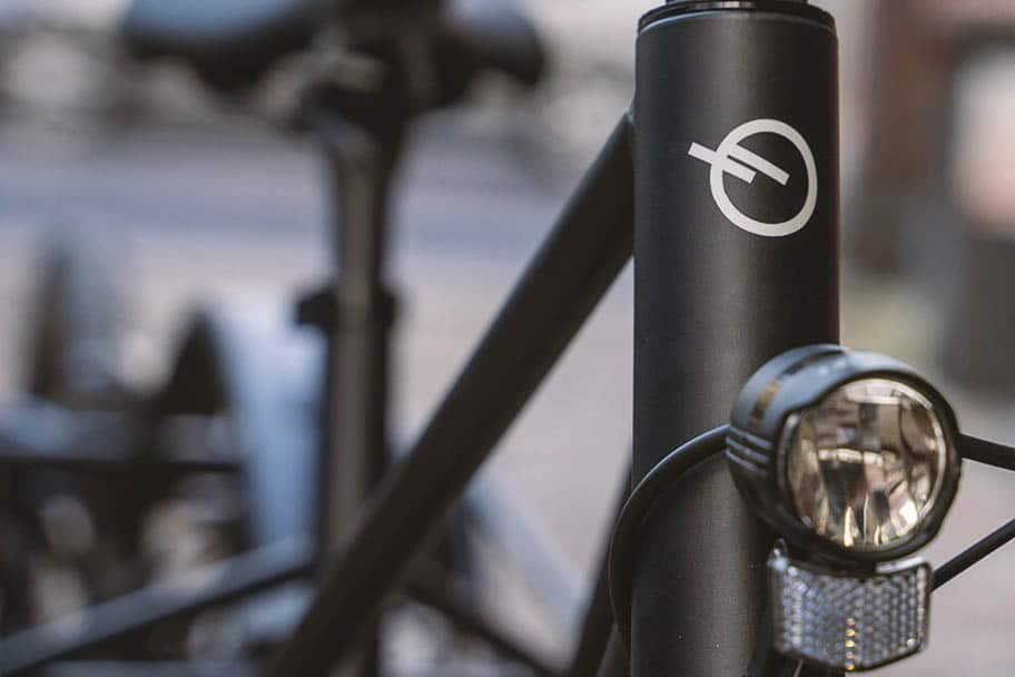Front headlight on the Convercycle Electric ebike