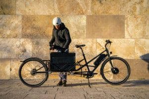 Ebike Convercycle Electric in cargo bike mode