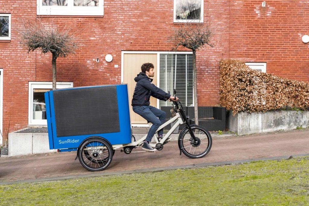 Riding the Sunrider e-cargo bike