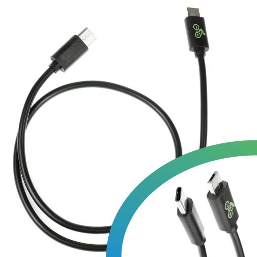 E-Bike USB Charging Cable Bosch Micro A - USB C - 450mm
