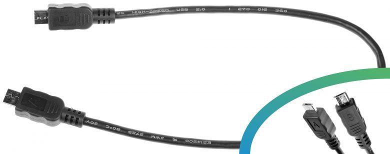Bosch e-bike USB charging cable Micro A - Micro B