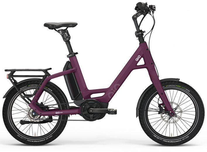 """Qio Eins P-5 Unisex Compact Bike 20"""" - Dark Purple"""