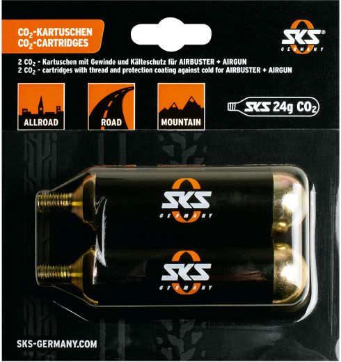 SKS CO2 Cartridges 24g with thread